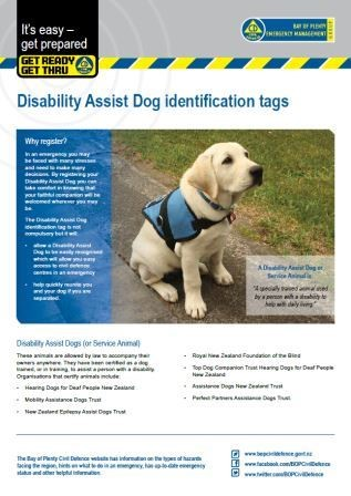Disability Assist Dog Identification Tags